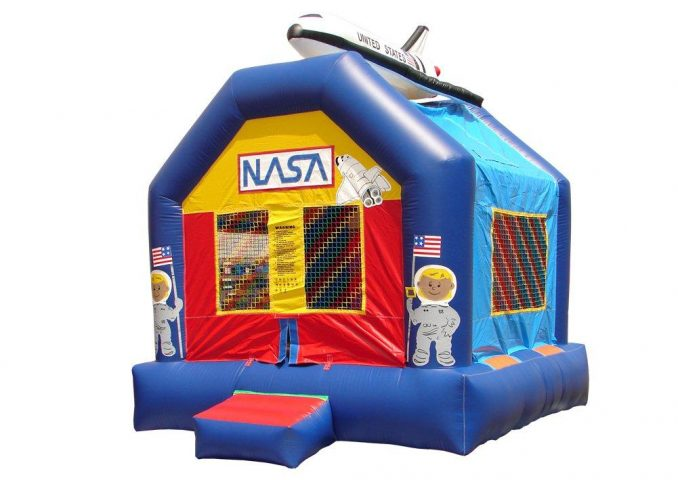 Moonwalk Space Bounce Enclosed Inflatable for Kids