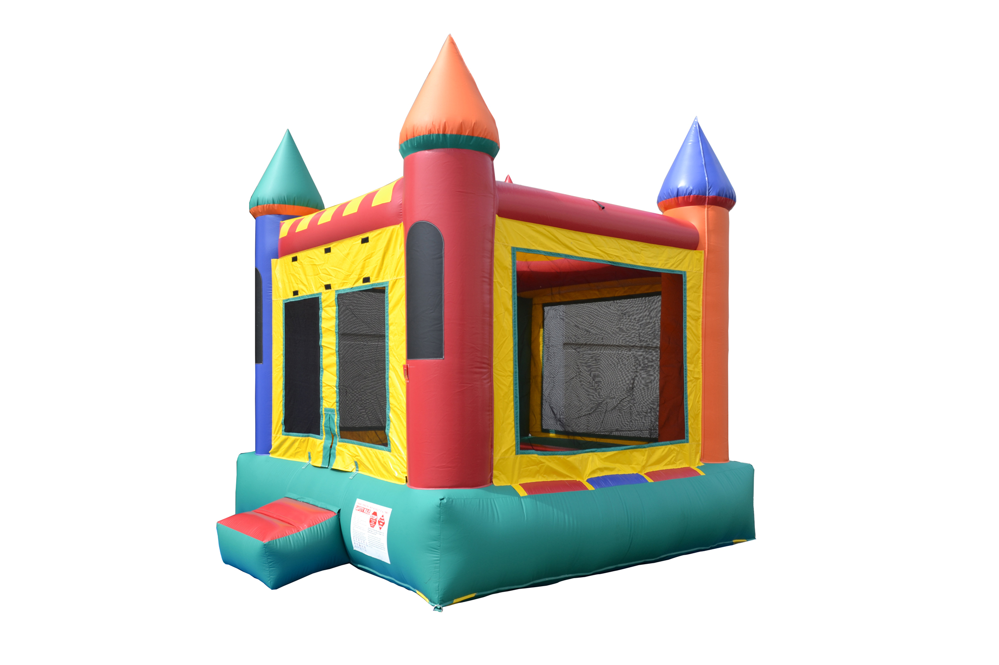 side view of inflatable moonwalk castle rental