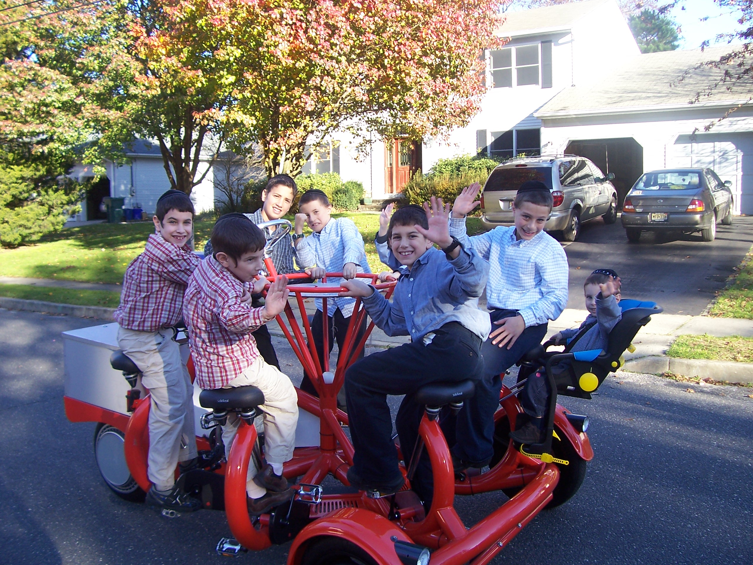 Conference bike with multiple riders