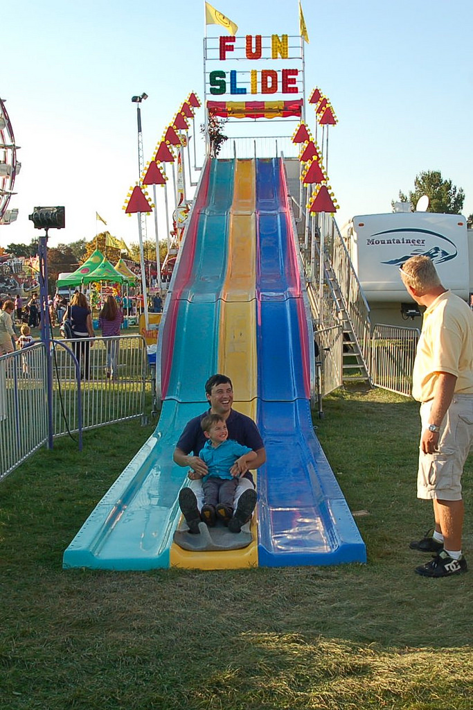Fun Slide front view with riders