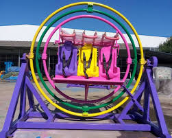 Human Gyroscope Carnival Thrill Ride