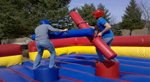 Close up of Pedestal Joust Competitive Inflatable Game