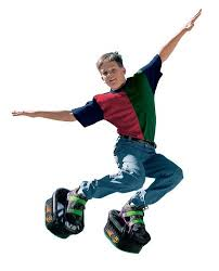 Boy Jumping in Moonshoes