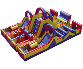Overview of 3 Piece Inflatable Obstacle Course