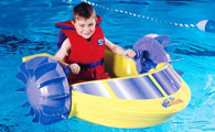 Boy Paddling Power Paddle Mini Paddleboat