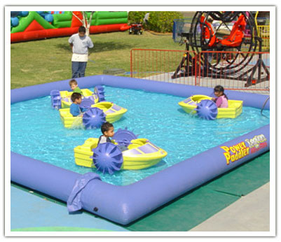 Power Paddle Mini Single Kid's Paddle Boats in Inflatable Pool