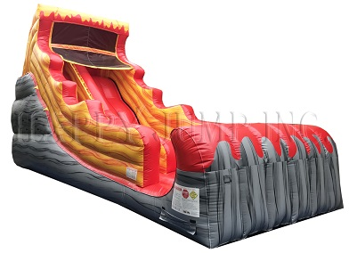 Inflatable Mungo Red Fire Surf Slide for Kids