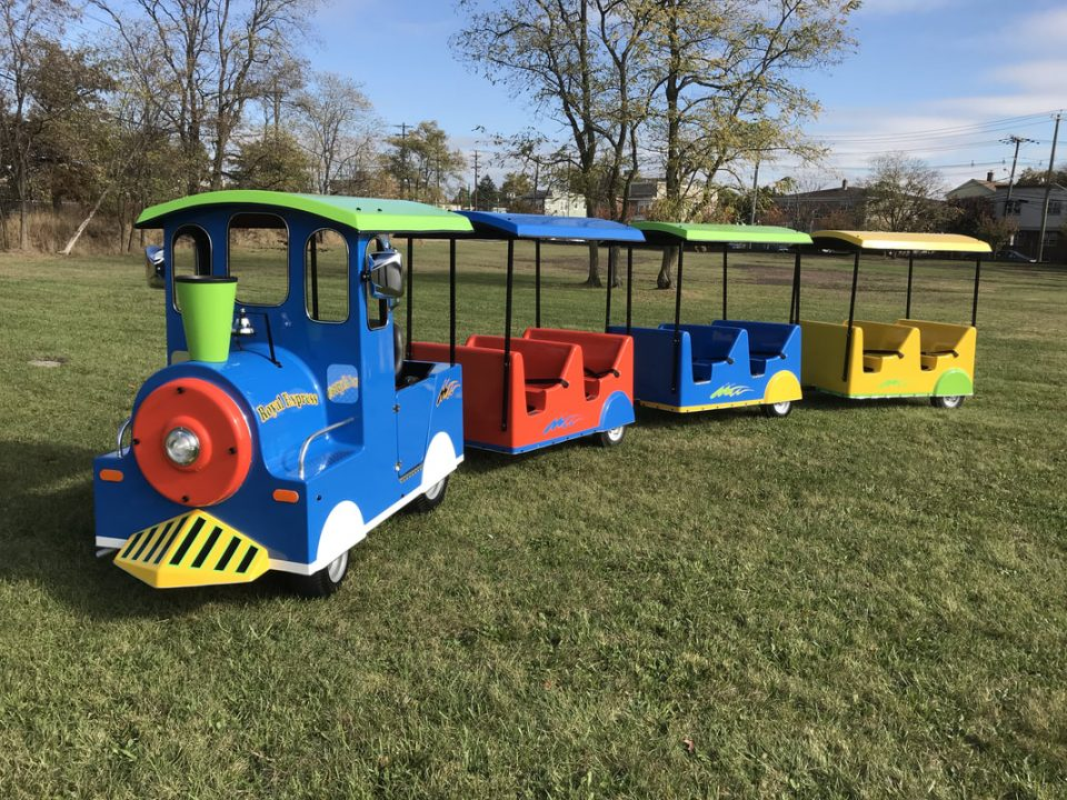 Electric Trackless Train Ride Rental