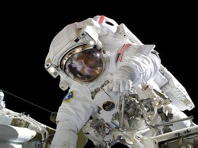 Virtual Reality Astronaut in Outer Space