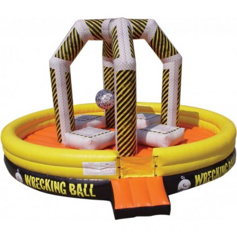 Inflatable Wrecking Ball Carnival Rental