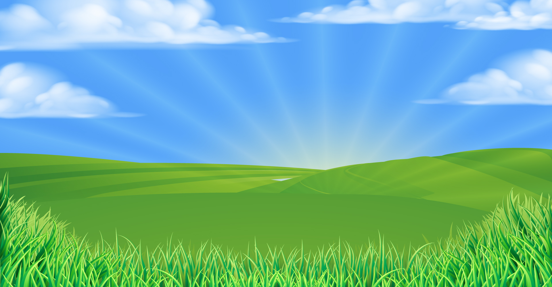 Grass and Sky background - Traveling Tykes Entertainment Rental