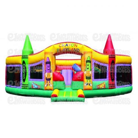 Inflatable Deluxe Indoor Funhouse Crayon Playland Moonbounce